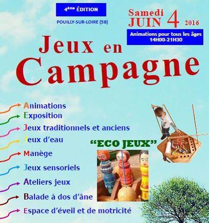 Jeux en Campagne Samedi 4 juin 2016
