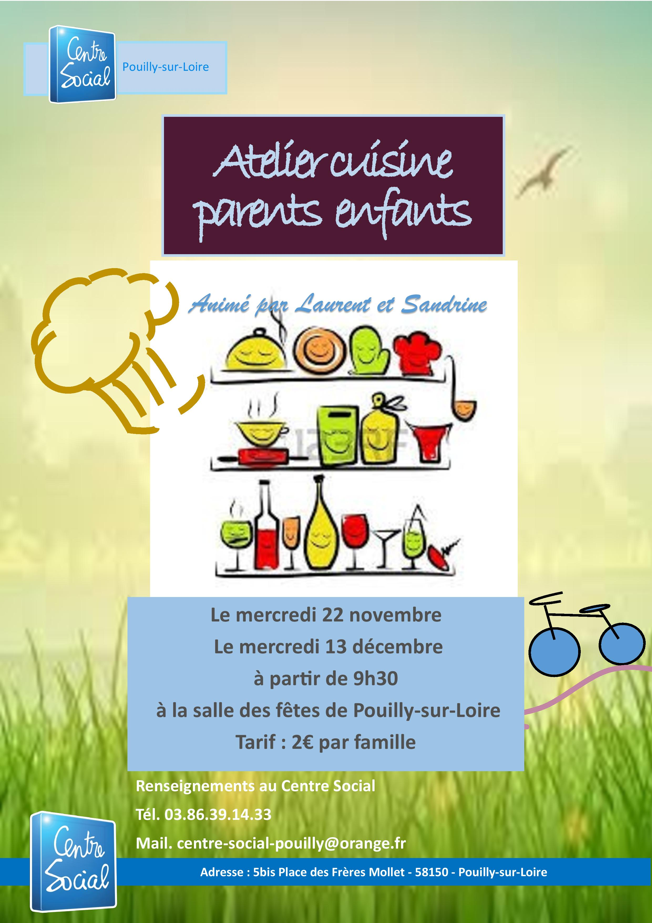 Atelier Cuisine Parents Enfants Centre Social De Pouilly Sur Loire