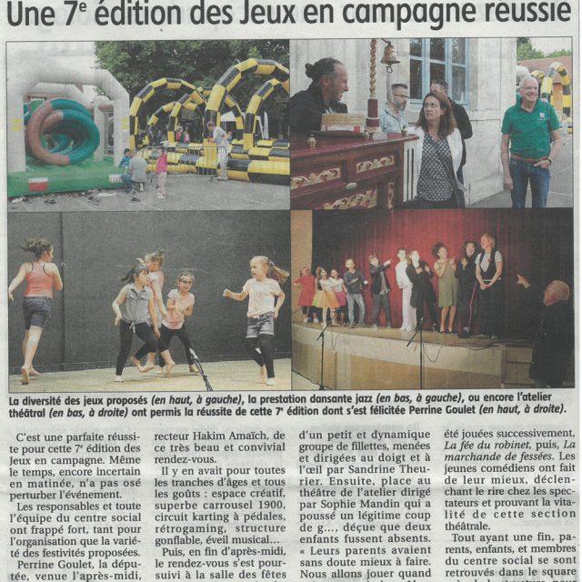 """Les articles de presse de la 7ème édition des """"jeux en campagne"""""""