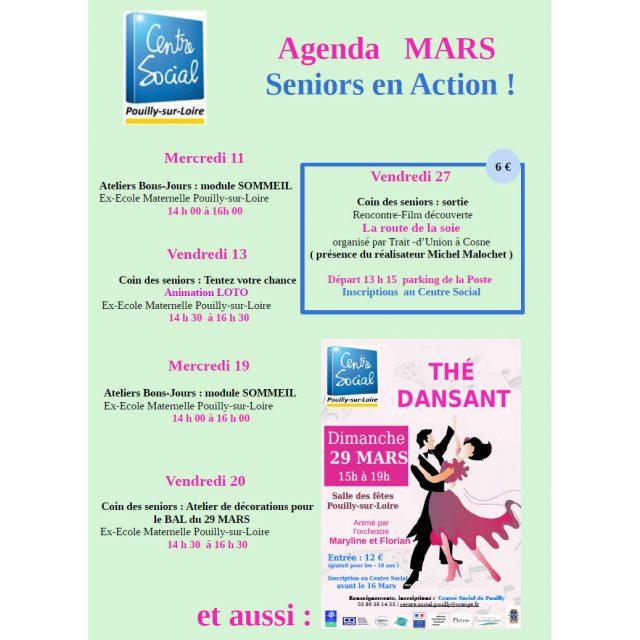 Agenda mars : seniors en action !