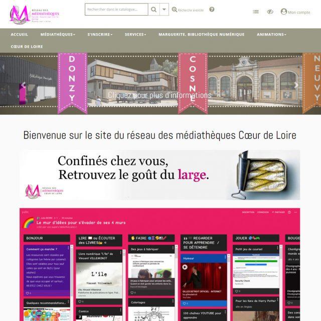Portail de la médiathèque Coeur de Loire