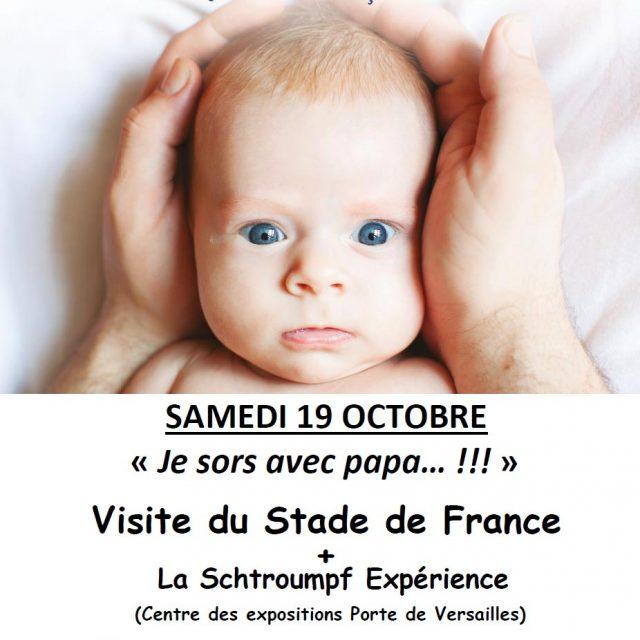 """""""Je sors avec papa… !!!"""" Visite du stade de France et…"""
