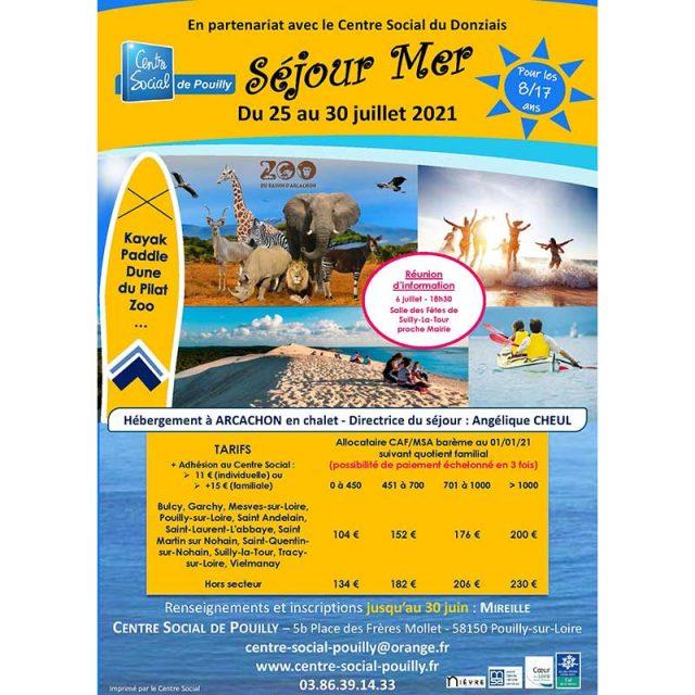 Séjour mer du 25 au 30 juillet