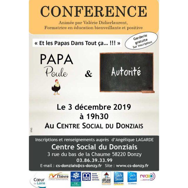 """""""Et les papas dans tout ça !"""" : Conférence """"Papa poule et autorité"""""""