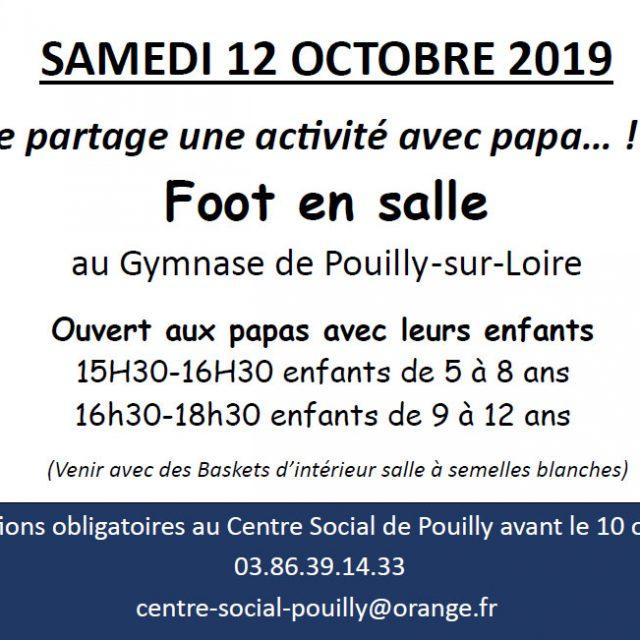 Foot en salle samedi 12 octobre !