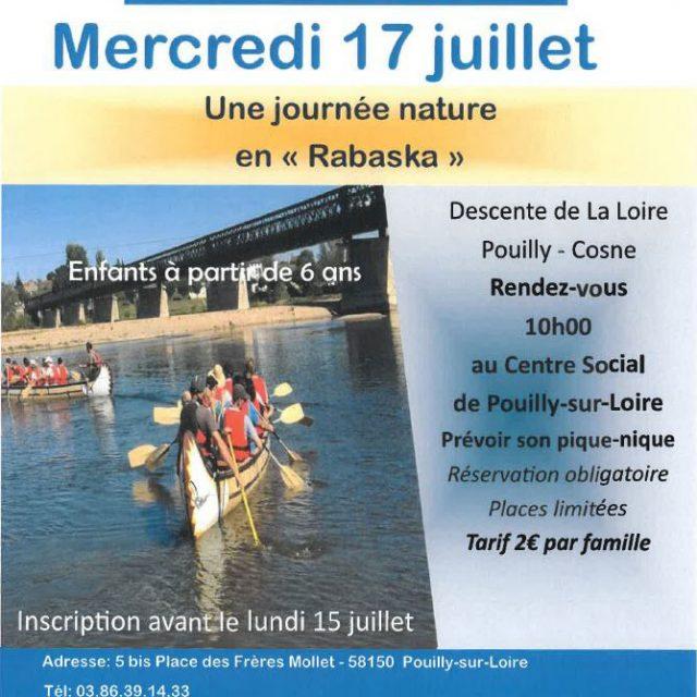 """Journée nature en """"Rabaska"""" mercredi 17 Juillet"""