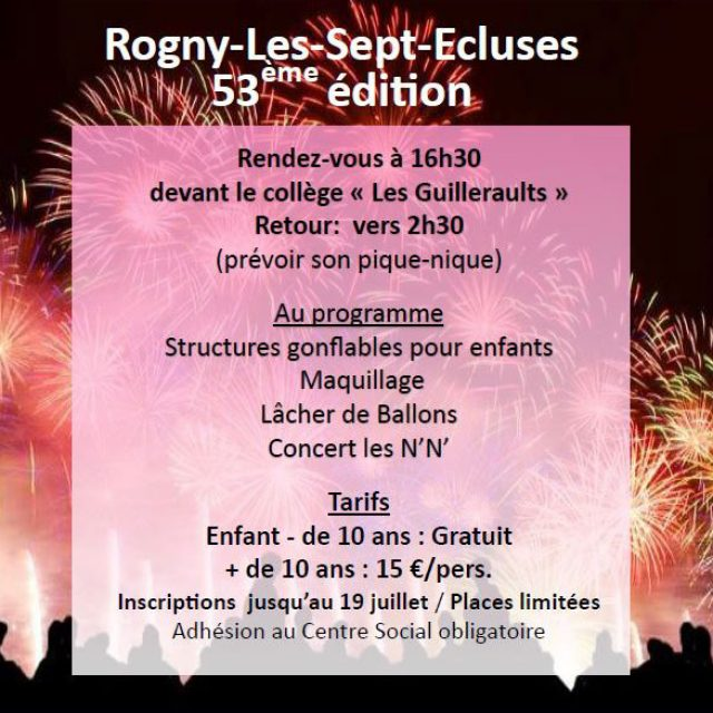 Rogny-Les-Sept-Ecluses « Grand Spectacle Pyrotechnique »