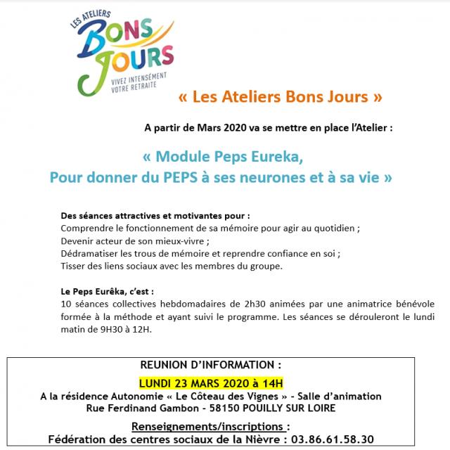 """Les ateliers """"Bons jours"""""""