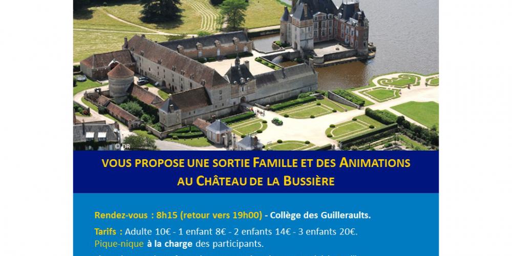 Sortie au Château de la Bussière le 19 septembre