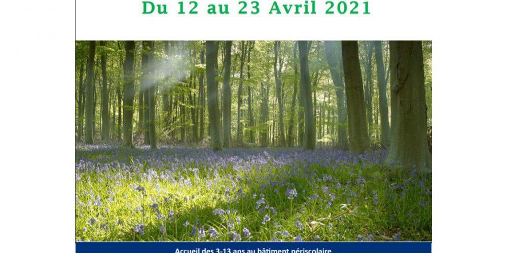Vacances de printemps du 12 au 23 avril