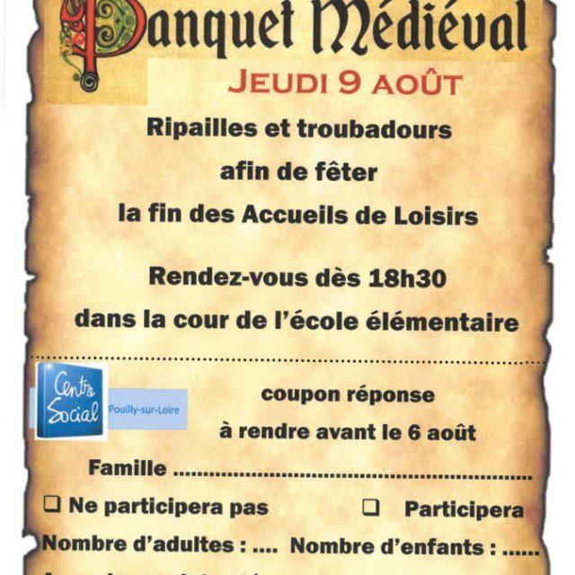 Banquet Médiéval jeudi 9 août